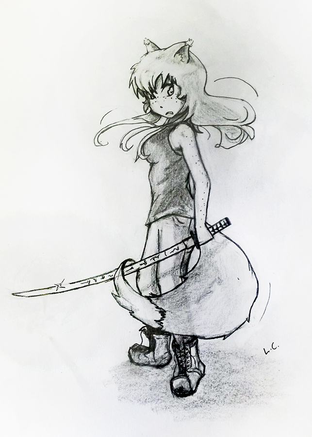 Drawing of Ada by Luke, thanks a lot! She looks badass!